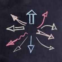 Plusieurs flèches pointant dans différentes directions
