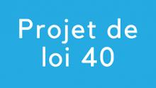Projet de loi no 40