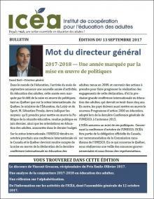 Page couverture du bulletin