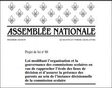 Page couverture du projet de loi