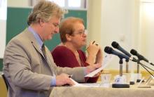 Ronald Cameron, directeur général, et Léa Cousineau, présidente de l'ICÉA