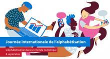 Logo UNESCO de la journée de l'alphabétisation